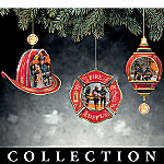 Courage Under Fire Heirloom Porcelain Christmas Ornament Collection