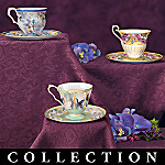 Lena Liu Tea Time Treasury Miniature Tea Cups and Saucers Collection