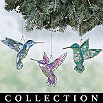 Garden Jewels Heirloom Porcelain Christmas Ornament Collection