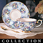 Lena Liu Glorious Chintz Heirloom Porcelain Teacup and Saucer Collection