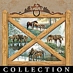 Visions Of Serenity Horse Collector Plate Collection