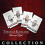 Thomas Kinkade Holiday Cheer Crystal Stemware Collection