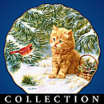 Purr-fect Companions Kitten Art Porcelain Plate Collection