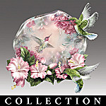 Reflections Of Serenity Lena Liu Hummingbird Art Collector Plate Collection