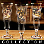 Majestic Encounters Deer Art Collectible Pilsner Glass Collection