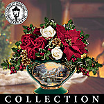 Thomas Kinkade Seasons Of The Garden Seasonal Silk Flower Arrangement Collection