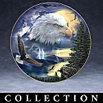 Mystic Wings American Bald Eagle Art Collector Plate Collection