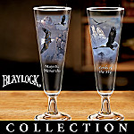 Ted Blaylock Soaring Spirits Collectible Eagle Art Pilsner Glass Collection