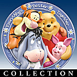 Winnie The Pooh And Friends Hundred Acre Happiness Collector Plate Collection