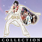 Elvis Presley Porcelain Sculptural Wall Decor Collection: Elvis, His Legend Lives On