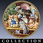 Jurgen Scholz Cats And Kittens Collector Plate Collection: Tender Tails