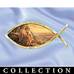 Greg Olsen Biblical Art Icthus Fish-Shaped Wall Decor Collection: Symbols Of Salvation