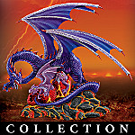Collectible Mother And Baby Dragon Figurines: The Dragon's Lair Collection