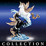 Collectible Black And White Unicorn Figurine Collection: Wings Of Love Collection