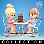 Precious Moments Friendship & Chocolate Go Together Collectible Figurine Collection