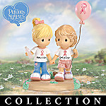 Precious Moments Best Of Friends Breast Cancer Charity Collectible Figurine Collection