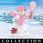 Snow Devoted To A Cure Breast Cancer Charity Snowman Figurine Collection