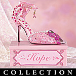 Breast Cancer Charity Collectible Shoe Figurine Collection: Walk For The Cure