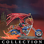 Collectible Dragon's Revenge Biker Figurine Collection