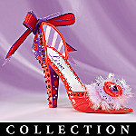 Miniature Collectible Red Shoe Figurine Collection: Paint The Town Red