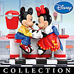 Disney Collectible Mickey & Minnie's Sweethearts Of The 50s Figurine Collection