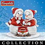 Love Warms The Soul Collectible Campbell's Soup Snowman Figurine Collection