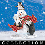 Dona Gelsinger Blizzard Buddies Arctic Adventure Penguin And Snowman Figurine Collection