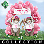 Breast Cancer Awareness Gift Idea: Charming Tails Friends For A Cure Figurine Collection