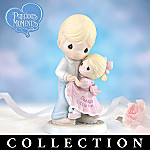 Precious Moments Daddy's Little Girl Father And Daughter Figurine Collection