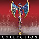 Dragon's Edge Of Wrath Dragon Fantasy Art Replica Axe Wall Decor Collection