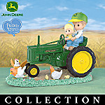 Precious Moments John Deere Farm Days Father And Son Figurine Collection
