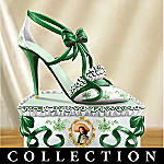 In Step With Scarlett Collectible Gone With The Wind Shoe Figurine Collection