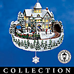 Thomas Kinkade Holiday Celebrations Animated Christmas Ornaments Collection