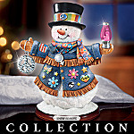 For The Good Times Retro Style Collectible Snowman Figurine Collection