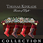 Thomas Kinkade Winter Wonderland Holiday Garland And Stocking Holder Collection