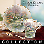 Thomas Kinkade Springtime Splendor Porcelain Teacup And Saucer Collection