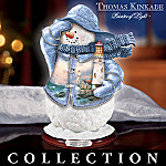 Thomas Kinkade Seaside Reflections Collectible Snowman Figurine Collection