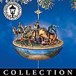 Thomas Kinkade Blessed Nativity Animated Christmas Ornament Collection