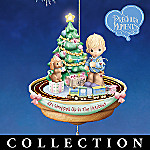 Precious Moments Holiday In Motion Animated Illuminated Ornament Collection