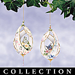 Lena Liu Silken Wings Floral And Butterfly Art Christmas Ornament Collection