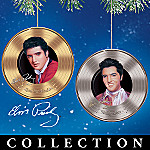 Collectible Elvis Presley Tribute Porcelain Ornament Collection: Platinum And Gold Hits
