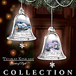 Thomas Kinkade Silver Bells Christmas Tree Ornament Collection