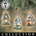 Thomas Kinkade Peaceful Retreats Birdhouse Christmas Tree Ornament Collection
