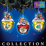 Disney Collectible Winnie The Pooh's Jingle All The Way Christmas Ornament Collection