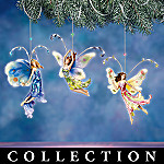 Floral Fantasy Collectible Butterfly Fairy Christmas Ornament Collection