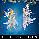 Frosted Enchantment Winter Fairy Collectible Christmas Ornament Collection