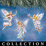 Lena Liu Enchanting Fairyland Butterfly And Flower Fairy Christmas Ornament Collection
