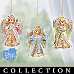 Precious Moments Reflections Of Faith Lighted Angel Ornament Collection