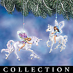 Enchanted Flights Collectible Fairy And Unicorn Christmas Ornament Collection