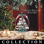 Thomas Kinkade Premium Editions Animated And Lighted Christmas Ornament Collection